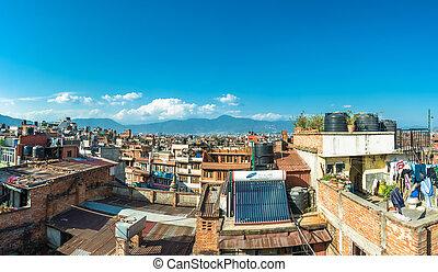 Panorama of Kathmandu, Nepal. - Beautiful view of Kathmandu...