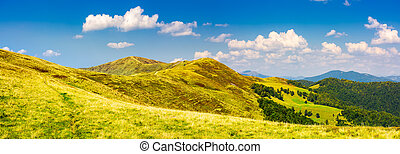 panorama of Krasna mountain ridge. beautiful landscape with...