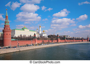 panorama of Kremlin embankment