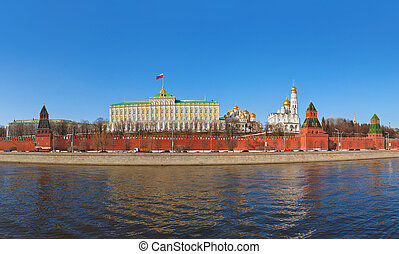 Panorama of Kremlin in Moscow (Russia)