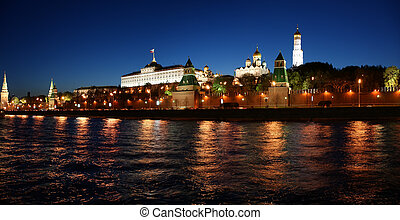 Panorama of Kremlin in Moscow, Russia