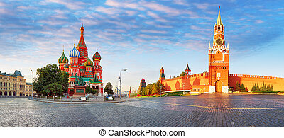 Panorama of Kremlin, red square in Moscow, Russia