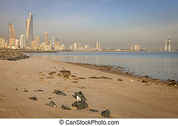 Panorama of Kuwait City from the beach