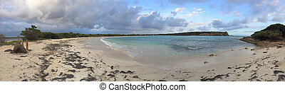 Panorama of La Playuela Beach in Puerto  Rico