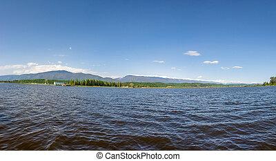 Panorama of lake of Inkit, Pitsunda, Abkhazia.