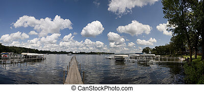 Panorama of Lake Okoboji
