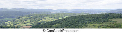 Panorama of landscape in central Germany