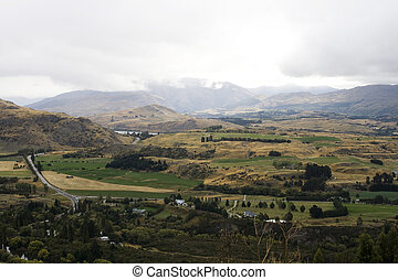 Panorama of landscape in New Zealand