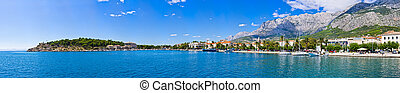 Panorama of Makarska, Croatia - Panorama of Makarska lagoon...