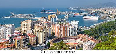 Panorama of Malaga