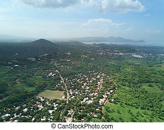 Panorama of Managua city