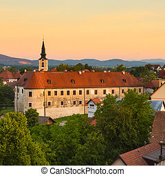 Panorama of Metlika, Slovenia, Europe. - Panorama of...
