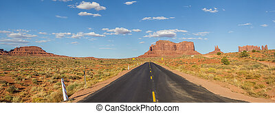 Panorama of Monument Valley in Arizona