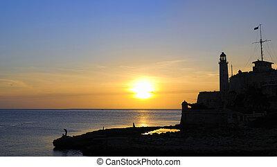 Panorama of Morro fortress in havana, cuba - Panoramic view ...