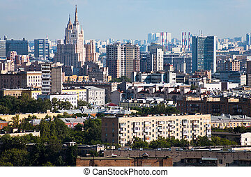 panorama of Moscow city