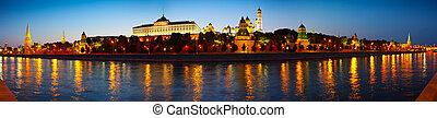 Panorama of Moscow Kremlin