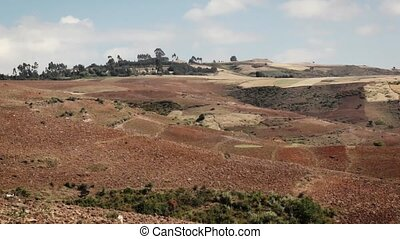 panorama of mountain agricultural landscape - Panoramic shot...