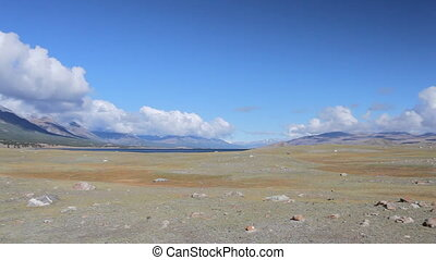 Panorama of mountain lake