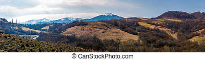 panorama of mountainous area of Carpathians. lovely...