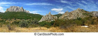 Panorama of Mountains in Crimea