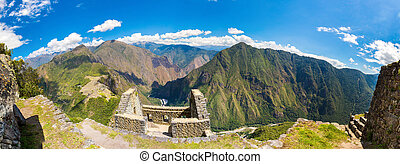 Panorama of Mysterious city - Machu Picchu, Peru, South ...