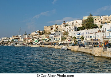 Panorama of Naxos, Cyclades, Greece
