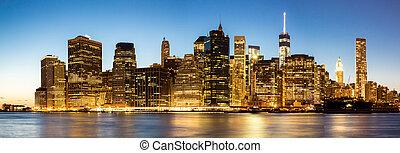 Panorama of New York City Manhattan skyline
