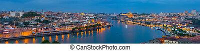 Panorama of night Porto