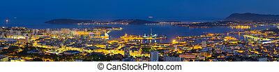Panorama of night Toulon