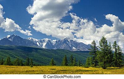 Panorama of North-Chuya ridge, Altai mountains