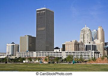 Panorama of Oklahoma City - Panorama of downtown Oklahoma...