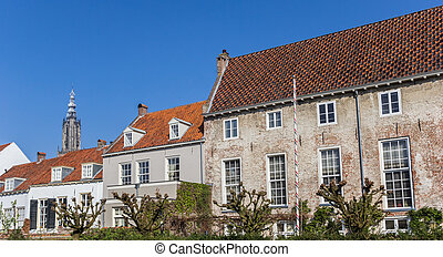 Panorama of old buildings in the historic center of...