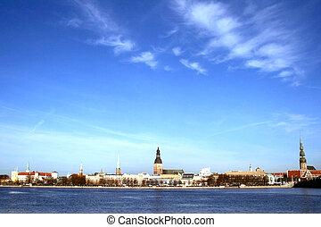 Panorama of old city Riga