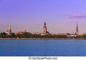 Panorama of old Riga. Latvia.
