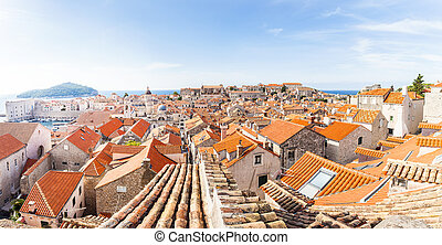 Panorama of Old Town Dubrovnik