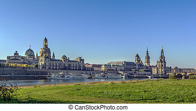 Panorama of Old town of Dresden,Saxony,Germany