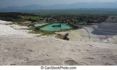 panorama of pamukkale turkey