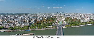Panorama of Paris from Eiffel Towe