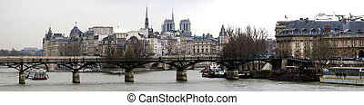 Panorama of Paris - view from Seine