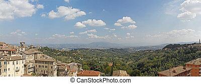 Panorama of Perugia
