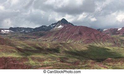 panorama of Peruvian mountains - magnificent Peruvian...
