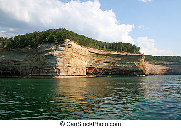 Panorama of pictured rocks