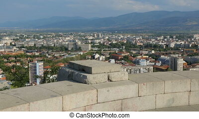 Panorama of Plovdiv from above, Bulgaria