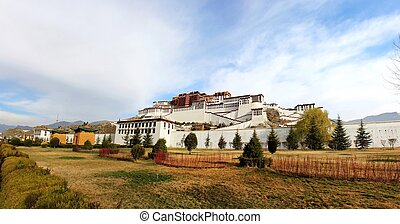 panorama of Potala Palace in Tibet