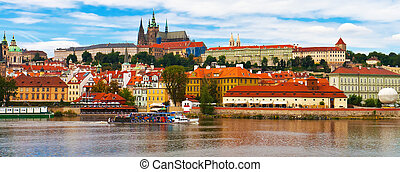 Panorama of Prague, Czech Republic - Scenic summer panorama...