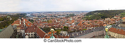 Panorama of Prague from The Castle