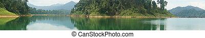 Panorama of rain forest at Kenyir lake, Malaysia