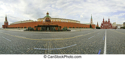 Panorama of Red Square on a summer day, Moscow, Russia