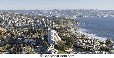 Panorama of Renaca, Chile