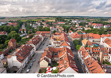 Panorama of Reszel in the Masurian Lakes district of northern Poland